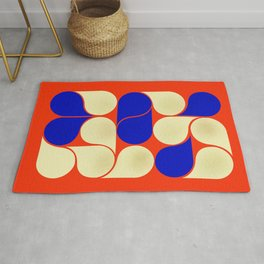 Mid-century geometric shapes-no10 Rug