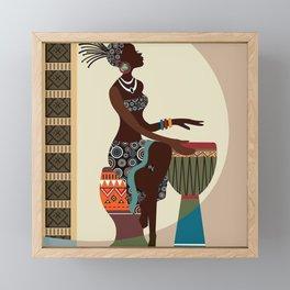 African Culture Framed Mini Art Print