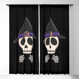 Halloween Skeleton Blackout Curtain