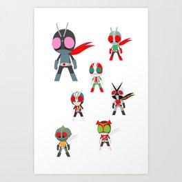 Seven Legendary Riders Art Print