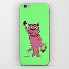 Tambourine Cat iPhone & iPod Skin