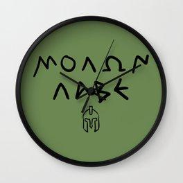 Molon Labe Wall Clock