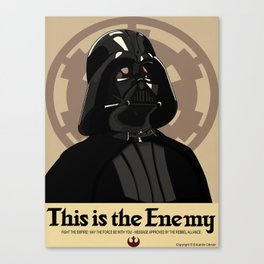 Fight The Empire! Canvas Print