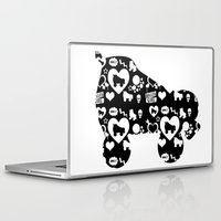 roller derby Laptop & iPad Skins featuring Roller Derby Skate Print by Mean Streak