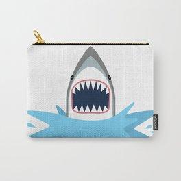 Cartoon Shark Splash Carry-All Pouch