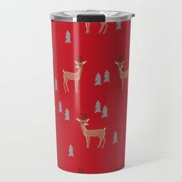 Rudolph christmas santa's reindeer forest winter deer Travel Mug