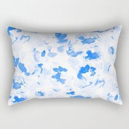 AbstractFlora Lapis Blue Rectangular Pillow