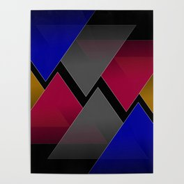 Dark Triangles Poster
