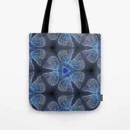 Shining Blue Butterflies Tote Bag