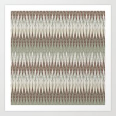 Sophisticated Ikat Print Art Print