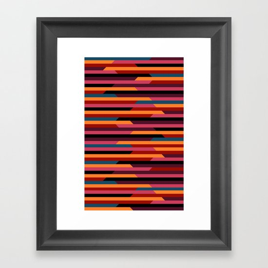 Geometric stripes Framed Art Print