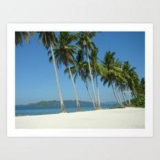 White Sandy Beaches  Art Print