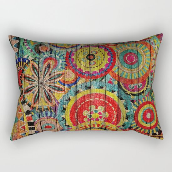 Kashmir on Wood 01 Rectangular Pillow