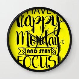 63 - Monday Wall Clock