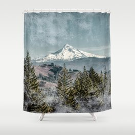 Frosty Mountain - Nature Photography Shower Curtain