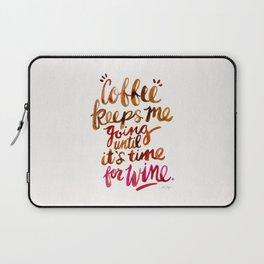 Coffee & Wine – Brown & Magenta Ombré Laptop Sleeve