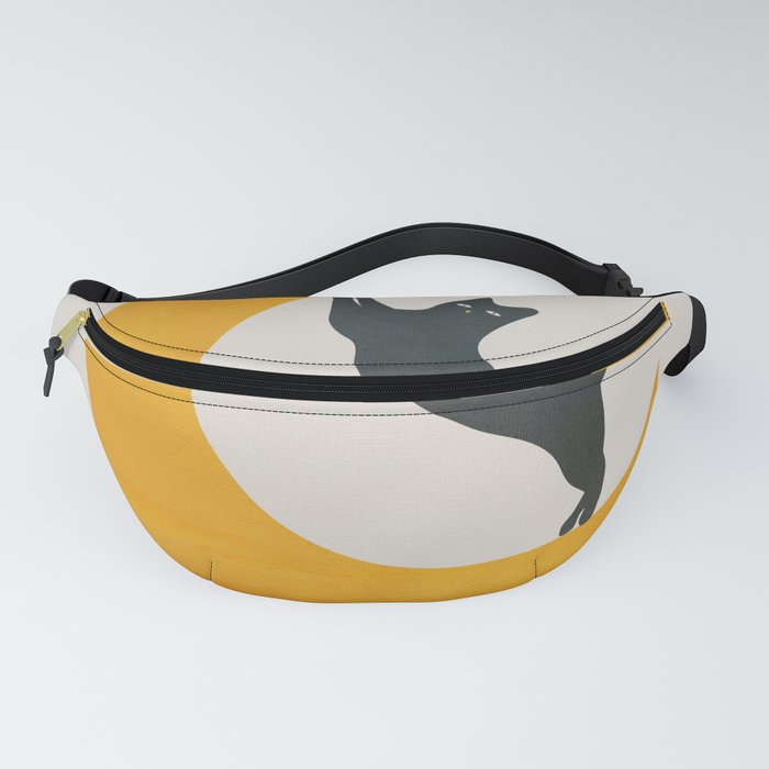 Moon and Cat Fanny Pack