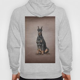 Drawing Doberman dog Hoody