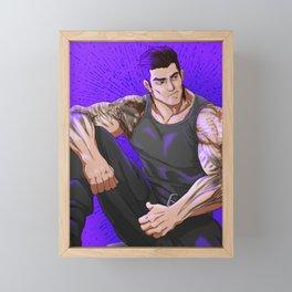 The Stalwart Hunk Framed Mini Art Print
