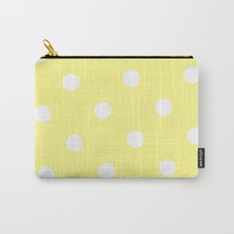 Yellow and White Polka Dot Carry-All Pouch