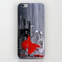 Oya in the Rain iPhone Skin