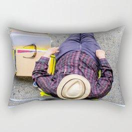 Purple Pants Rectangular Pillow