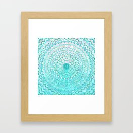 Ice Flower Mandala Framed Art Print