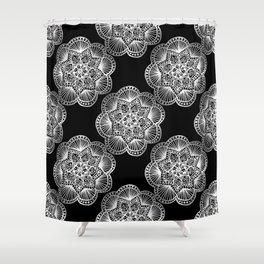 Tangled Mandala Pattern Shower Curtain