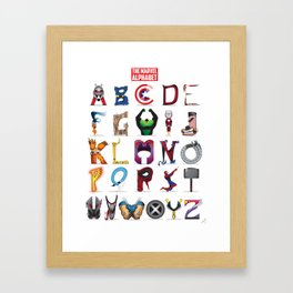The ABC of the MCU - Vertical Framed Art Print