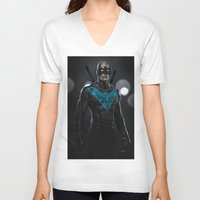nightwing V-neck T-shirts featuring Nightwing 02 by Yvan Quinet