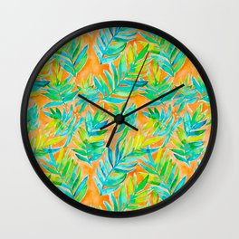 Palm fronds - Creamsicle Wall Clock