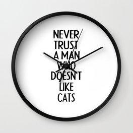 Funny Cat Shirt I Cat Mother Gift Pet Kitten Wall Clock