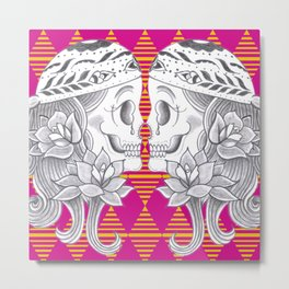 Mexican Skull by Camel Metal Print