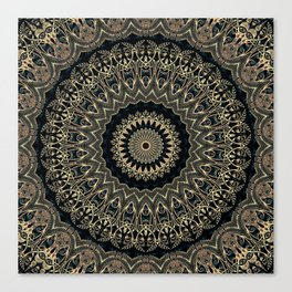 Gold Filigree Mandala Canvas Print