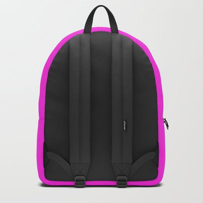 BLAH BLAH BLAH (Quote Art, Typography, Graphic, Fun) Print (Hot Pink Maroon Lavender) Backpack