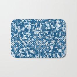 Snorkel Blue Pixels Bath Mat