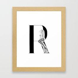 Mermaid Alphabet Series - R Framed Art Print