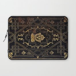 Leather and Gold Laptop Sleeve