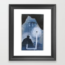 Blue Abbatoir Framed Art Print