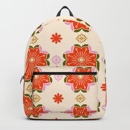 Floral vintage hippie 1970s aesthetic Backpack