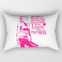 If you want to achieve greatness stop asking ... Rectangular Pillow