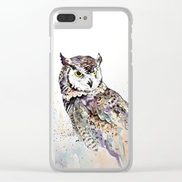 Vancouver Owl Clear iPhone Case