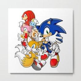 Sonic the hedgehog characters 1 Metal Print