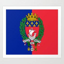 Coat of arms of Paris / Blason de Paris / Fluctuat nec mergitur Art Print