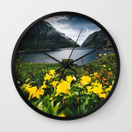 Cabin in Saksun - Faroe Islands Wall Clock