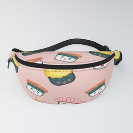 Japanese Cuisine Delicious Sushi Background Fanny Pack