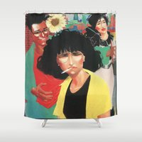 laura palmer Shower Curtains featuring Laura by Kyle Baker's QUALITY JOLLITY