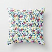 splatter Throw Pillows featuring Splatter by Regan McDonell Design