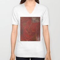 human V-neck T-shirts featuring human by merry