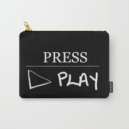 Press Play: Black Carry-All Pouch